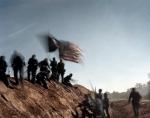 Union reenactors storm an earthen fort in Henrico Co, Va 2014