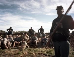 Captured Confederates under guard in Henrico Co, Va 2014