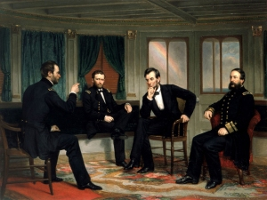 The Peacemakers painted in 1868 by George Healy