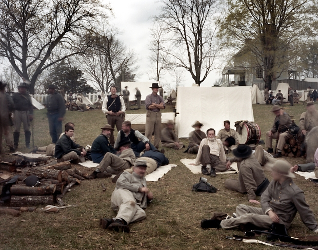 Paroled Confederate soldiers at Appomattox Court House, Va 2015