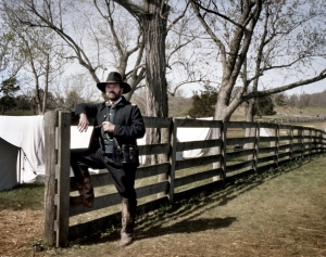Dr. E.C. Fields in the impression of Ulysses S. Grant at Appomattox 2015