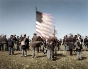Union troops at Appomattox, Va 2015