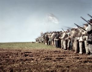 The last Confederate battle line at Appomattox 2015
