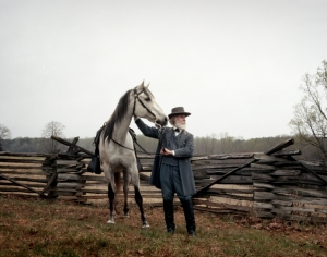 Robert E.Lee with Traveler at Appomattox, Va 2015
