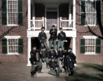 Union reenactors at the old Appomattox Court House