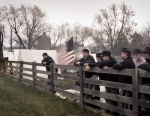 Reenactors camp along the Lynchburg Stage Road and the McLean House at Appomattox Court House, Va 2015