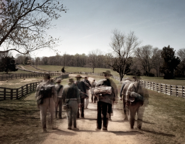"Confederate reenactors begin the ""long road home"" from Appomattox, Virginia 2015"