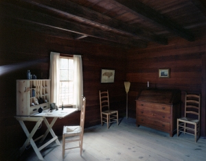 The interior of the cabin where Johnston surrendered to Sherman in April 1865