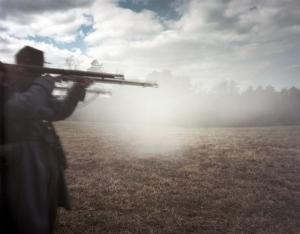 Confederates deliver their last volley at Sailor's Creek