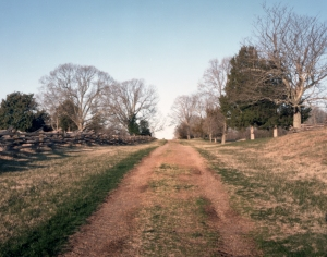 Confederate troops attacked up the Lynchburg Stage Road here at Appomattox Court House