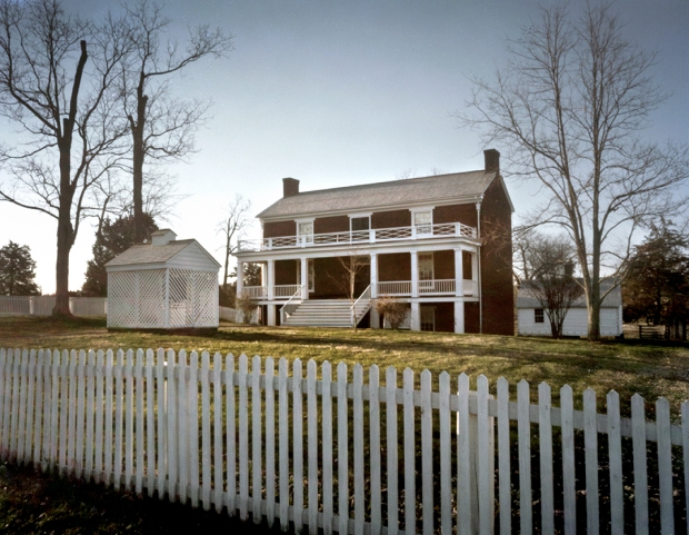 On April 9th 1865 Robert E. Lee surrendered himself and the Army of Northern Virginia to Lt. Gen. Ulysses S. Grant here in the home of Wilber McLean at Appomattox Court House National Historic Park