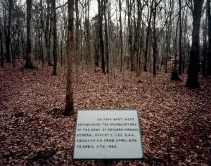 The centennial plaque marking Lee's Last Bivouac