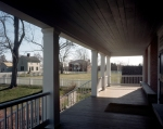The view of Appomattox Court House from the porch of the McLean House