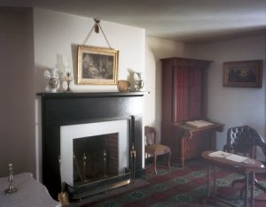 Interior of the McLean parlor where Lee surrendered to Grant