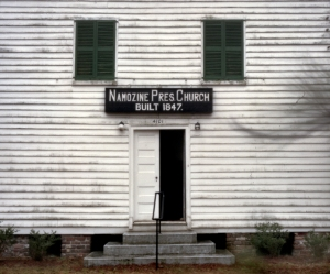 Pursuing Federal troops caught up with the Confederates here at Namozine Church on April 3rd. 1865