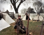 Confederate reenactor at Appomattox Court House 2015