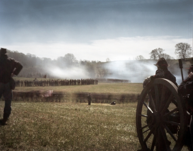 Reenactment of the last battles of the Civil War at Appomattox, Va 2015