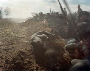 Union reenactors defend against Confederate attacks in Bentonville