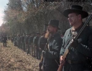 Union reenactors take the impression of Sherman's western army at Bentonville, North Carolina 2015