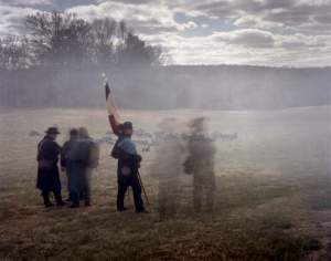 Gun smoke shrouds the Battlefield at Sailor's Creek