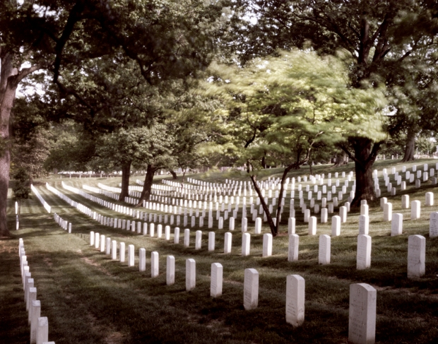 Soldiers graves at Arlington National Cemetery 2015