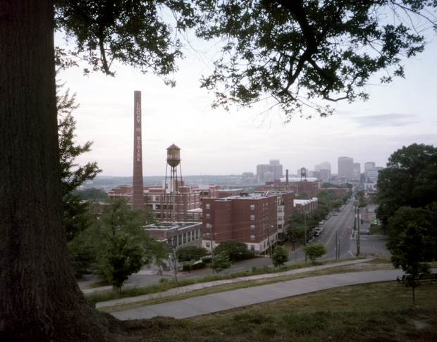 Libby Hill Park overlooks the old Lucky Strike factory and the City of Richmond, Virginia 2015