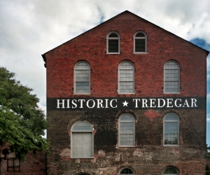One of the few surviving buildings of the Tredegar Iron Works destroyed in the Fall of Richmond