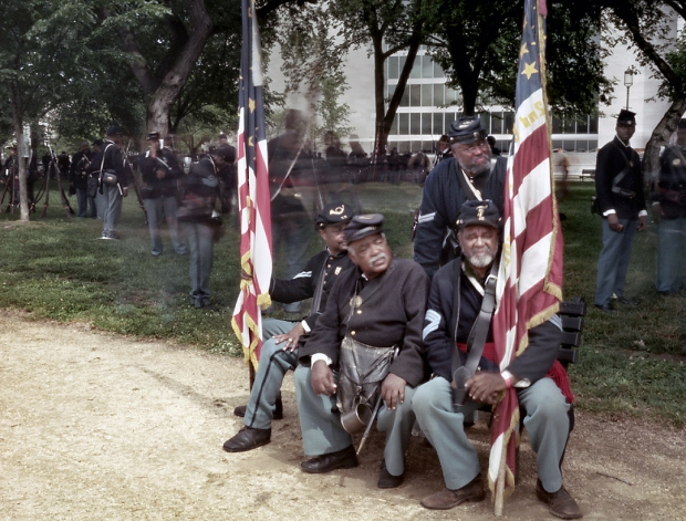 Reenactors gather for the 150th anniversary of the Grand Review in Washington 2015