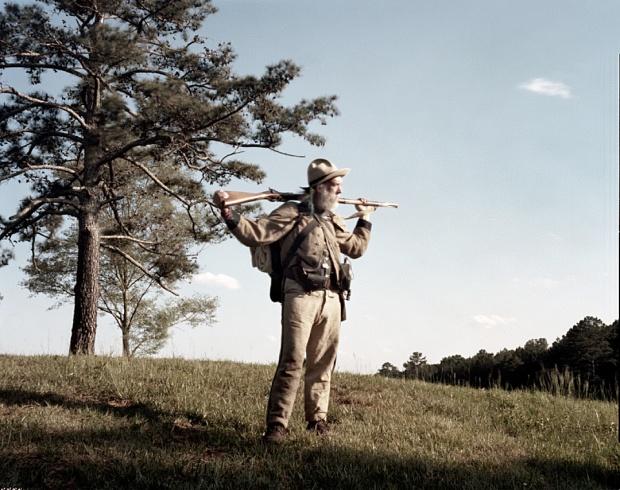 "Confederate reenactor Douglas ""Bones"" Jarrett at Resaca, Georgia 2014"