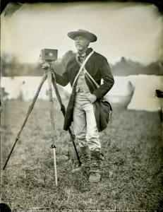 Falco with the pinhole camera at Cedar Creek - tintype photo by Tim Harrington