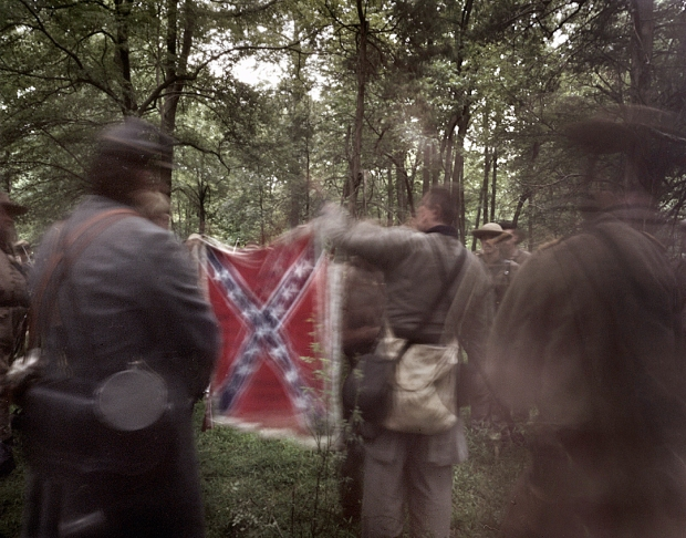 Reenactors of the 14th Tennessee Regiment at Gettysburg in 2013