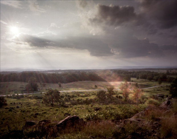 The view from Little Round Top of the Gettysburg Battlefield -2013