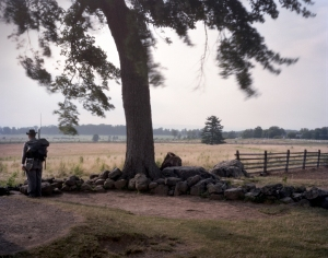 The Bloody Angle and apex of Pickett's Charge on the Battlefield at Gettysburg