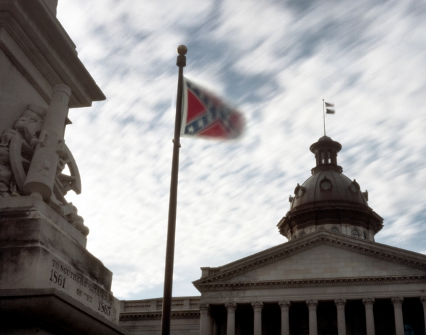 The Confederate battle flag at the State House in Columbia South Carolina 2014
