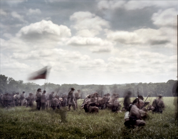 The Battle of Glendale during a reenactment of the Seven Days Battles in Elizabethtown, Pa 2012